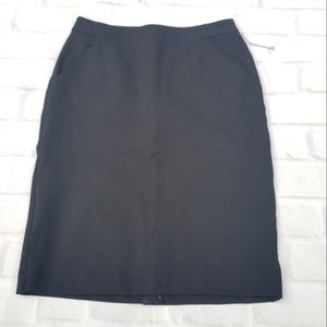 A New Day ~ Black A-Line Pencil Skirt ~ NEW W TAGS